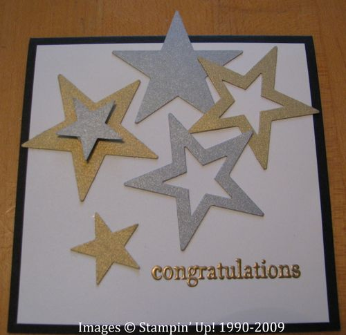 Graduation Congratulations Card Stars