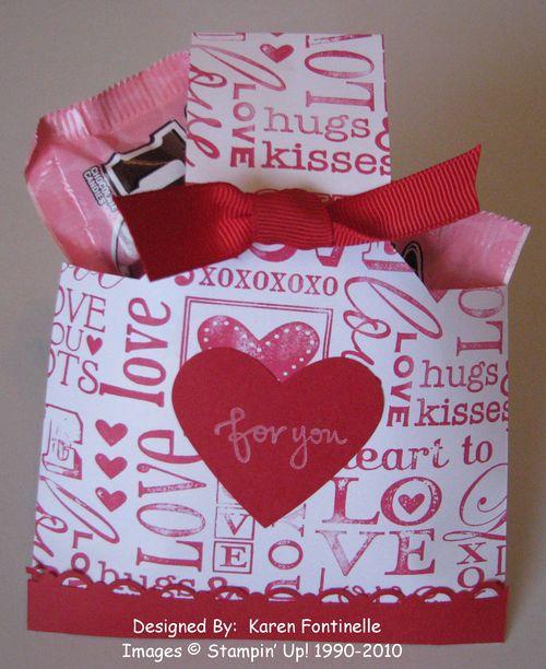 Easy Valentine Candy Envelope Treat Bag
