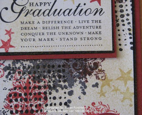 Extreme Elements Graduation Card Gold Glow Smooch Spritz
