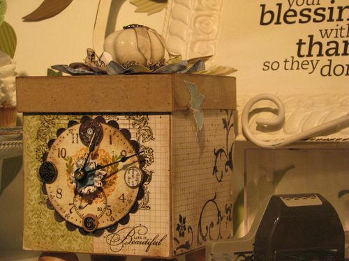 Stampin' Up! Box Clock