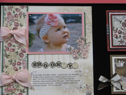 Elements of Style Baby Vintage Scrapbook Page