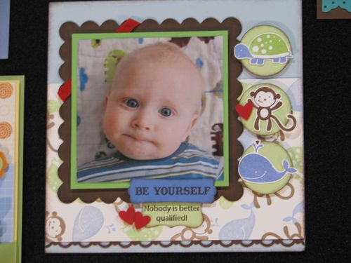 Fox & Friends Baby Scrapbook Page