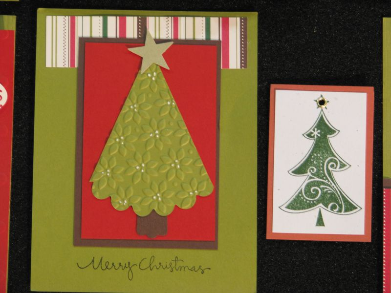 Christmas Tree Embossed Card