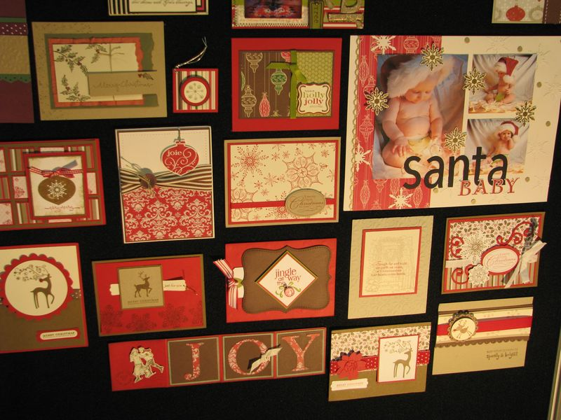 Christmas Baby Scrapbook Page