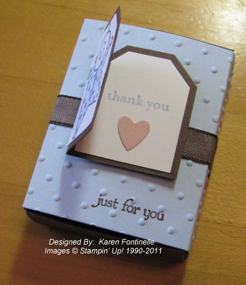 Baby Shower Favor Box Tag