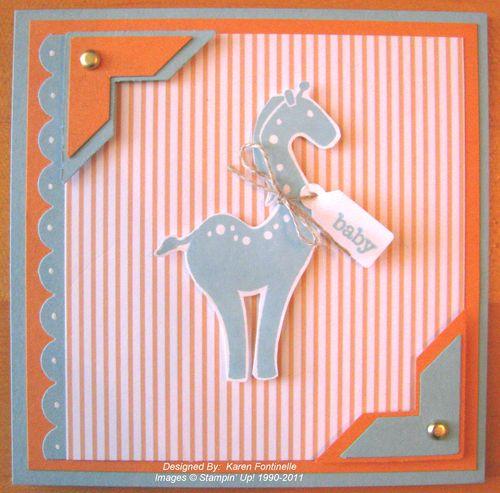 Stampin' Up! Baby Card Animal Stories