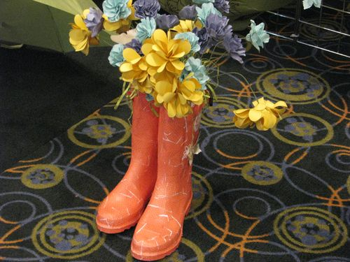 Paper Flowers and Boots