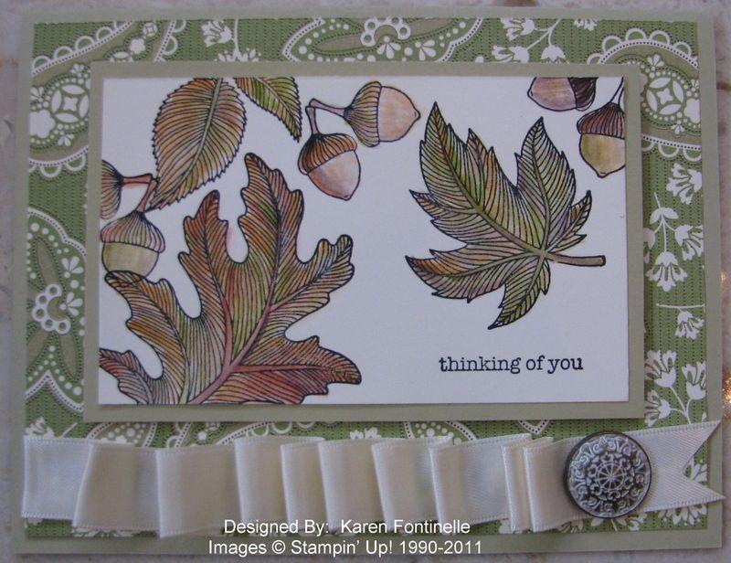 Autumn Splendor First Day of Fall Card