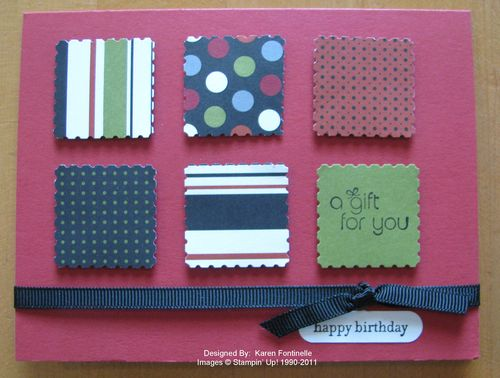 Postage Stamp Punch Male Birthday Card