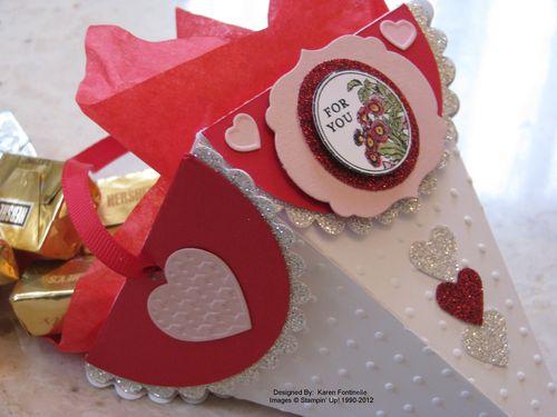 Valentine Petal Cone Die Candy Holder Gift