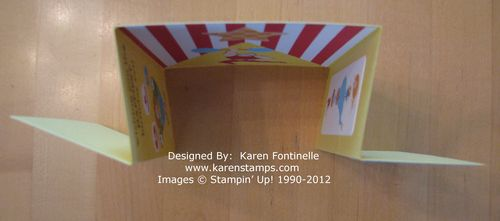 Circus Gate Fold Card top
