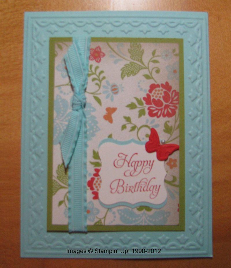Everyday Enchantment Designer Paper Birthday Card