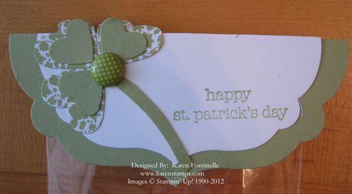 St. Patricks Day Treat Topper