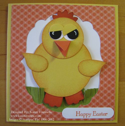 Easter Duckie Punch Art Card