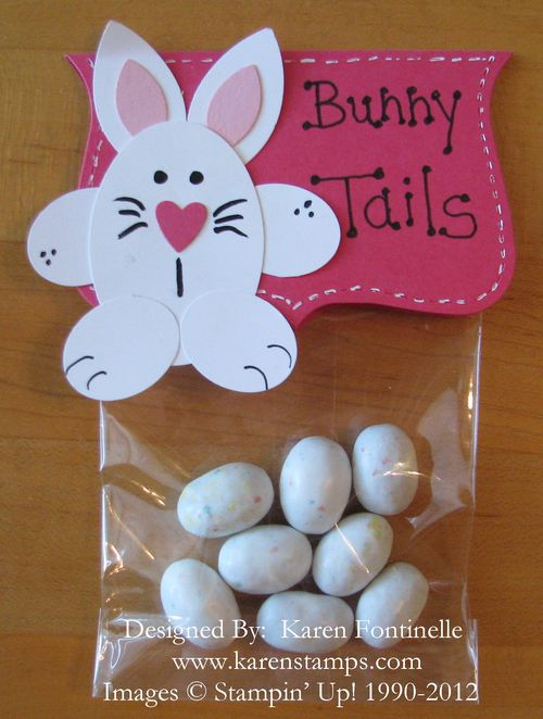 Punch Art Bunny Tails Easter Favor Treat Bag