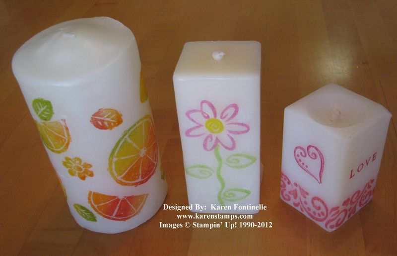 Stampin' Up! Stamped Candles