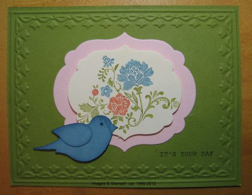 Fresh Vintage Bird Card