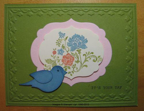 Fresh Vintage Bird Card