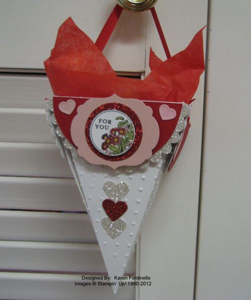 Petal Cone Valentine Candy Holder Gift