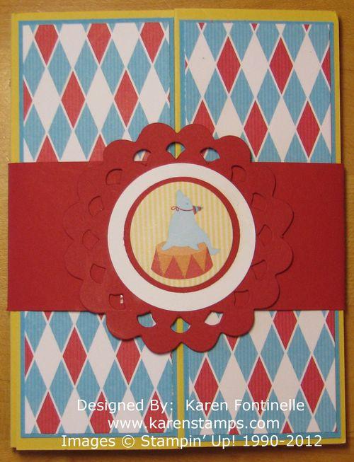 Circus  Gate Fold Card