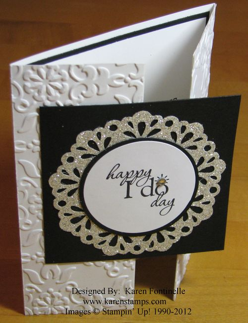 Wedding Gate Fold Card Happy I Do Day