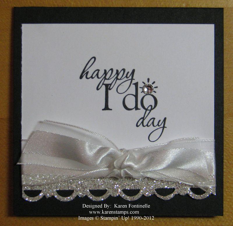 Wedding Gift Card 3x3 Happy I Do Day