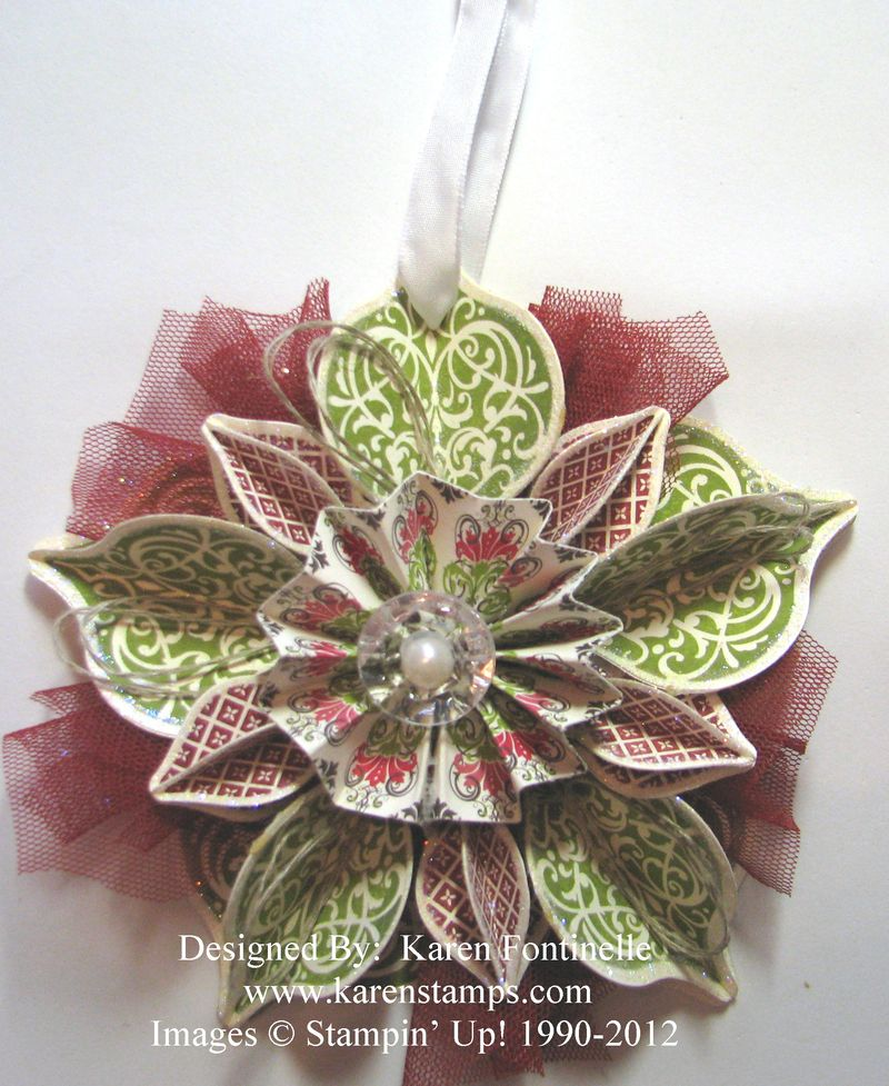 Stampin' Up! Holiday Catalog Cover Ornament