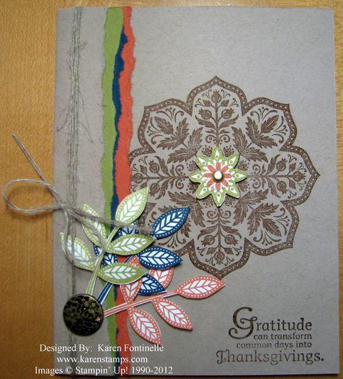 Day of Gratitude Thanksgiving Autumn Card