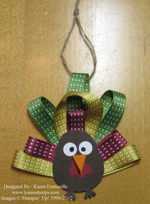 Paper & Ribbon Thanksgiving Turkey Ornament