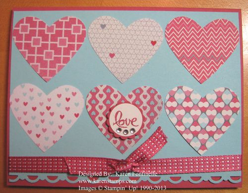 More Amore Hearts Card
