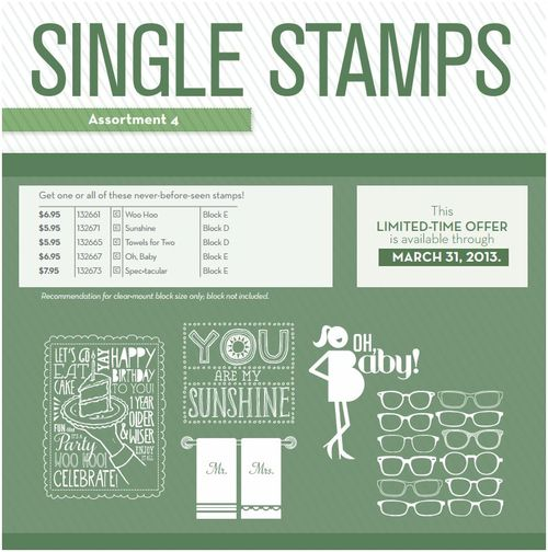 Single Stamps Assortment 4