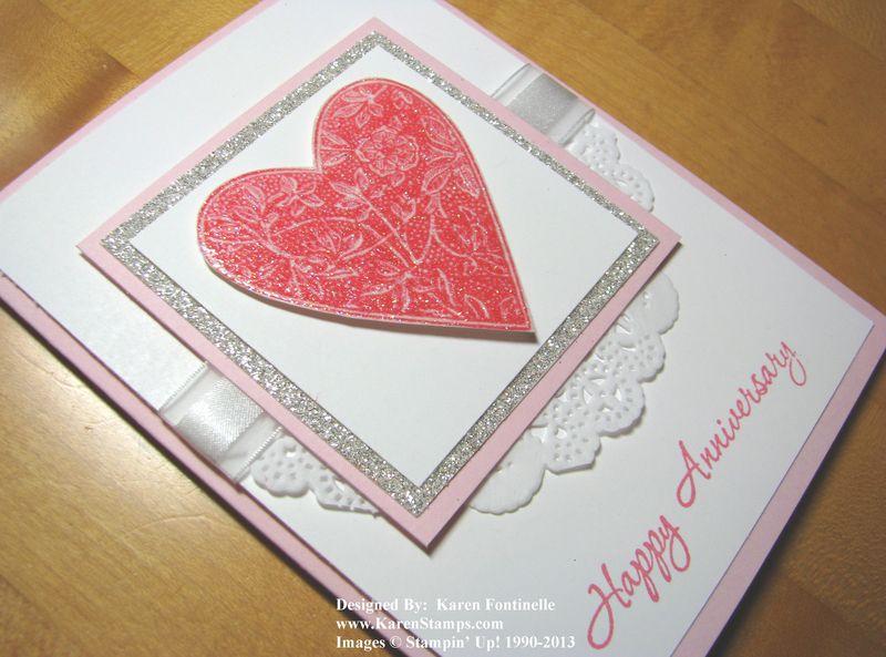 Best of Love Gentler Times Heart Anniversary Card