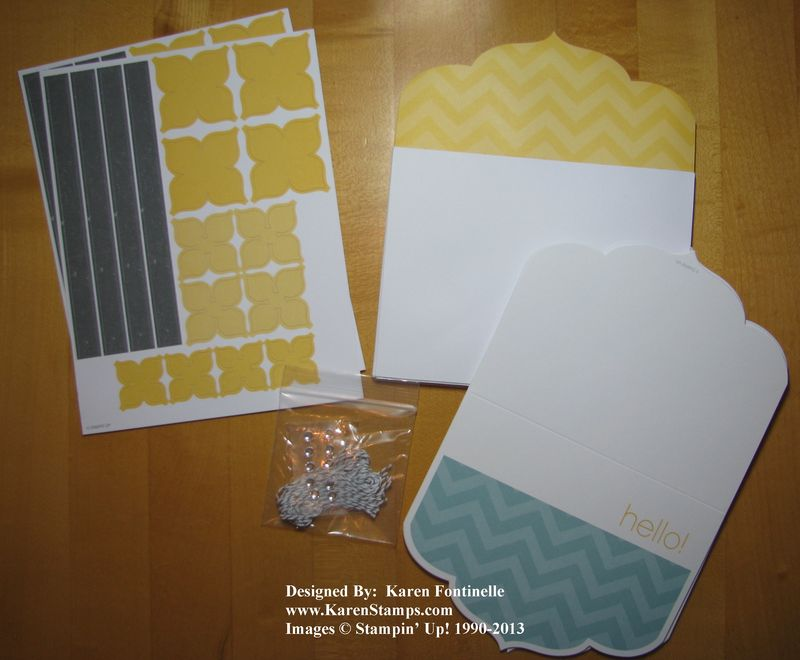 Stampin' Up! Sale-A-Bration Happy Hello Simply Sent Card Kit