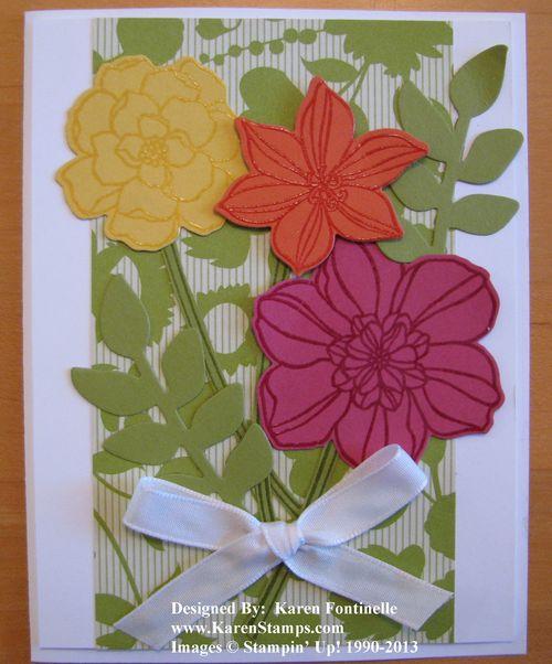 Secret Garden Flower Card