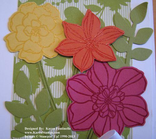 Secret Garden Flower Card Embossing