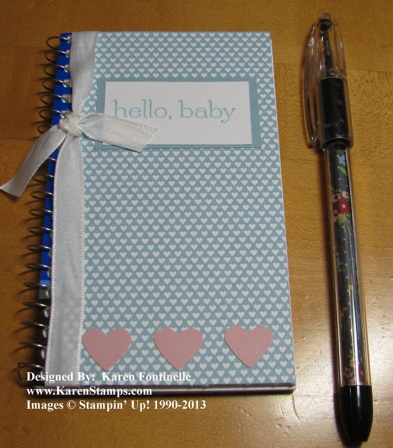Baby Memo Book and Pen