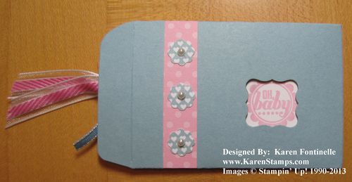 Scallop Envelope Baby Gift Card