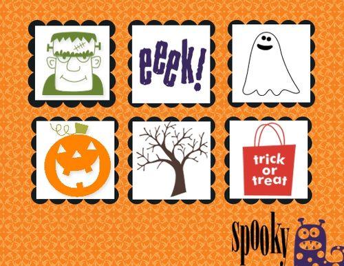 Spooky Bingo Bits Halloween Card