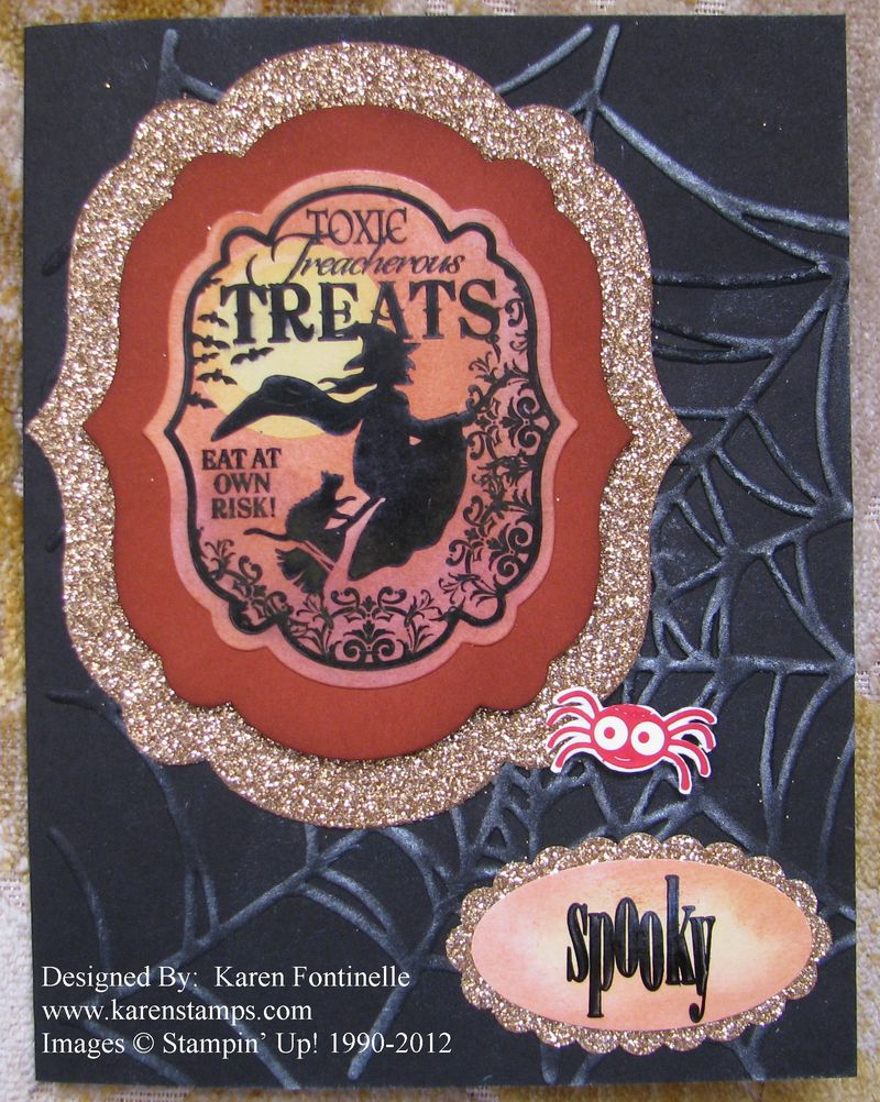 Toxic Treat Halloween Card with Champagne Glimmer Paper