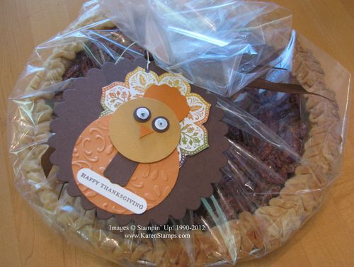 Turkey Tag Pecan Pie Presentation