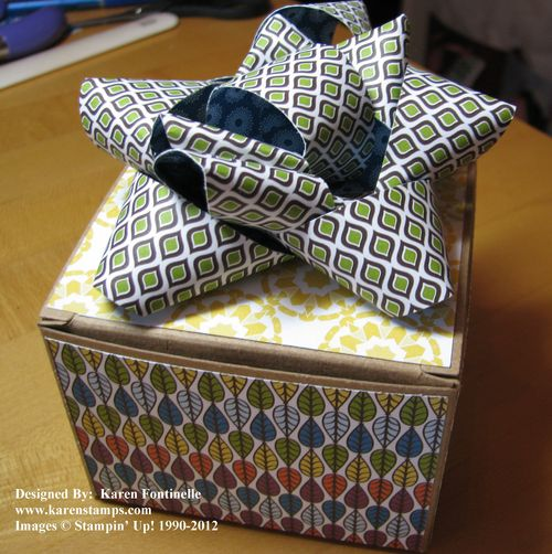 Kraft Gift Box and Paper Bow
