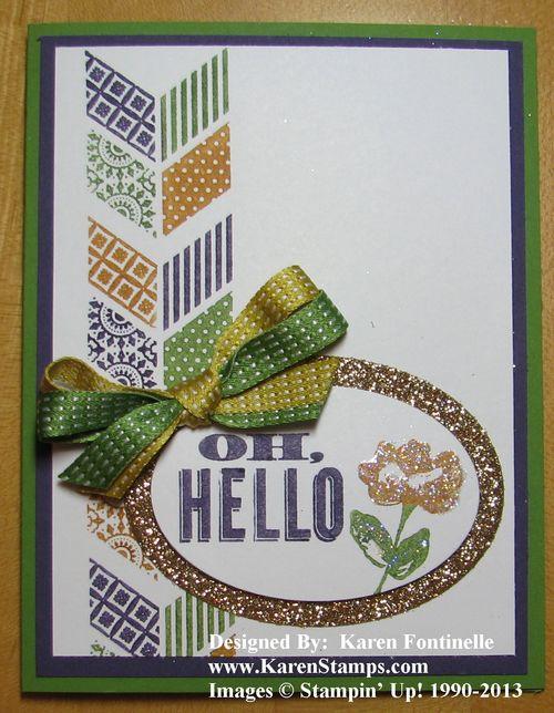 Oh Hello Mardi Gras Card