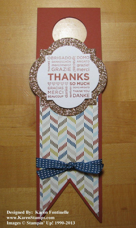 Wine Bottle Tag for Hostess Gift