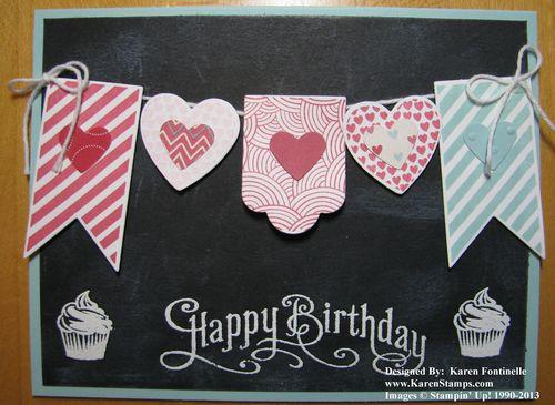 Birthday Card Chalkboard Technique