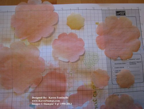 Spritzing Filter Paper Flowers