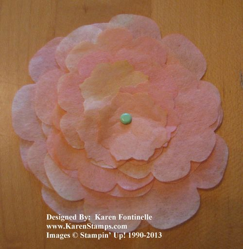 Creped Filter Paper Flower Layers