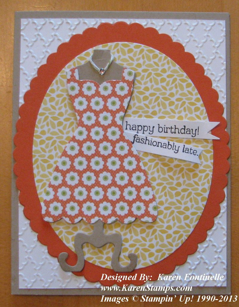 All Dressed Up Belated Birthday Card