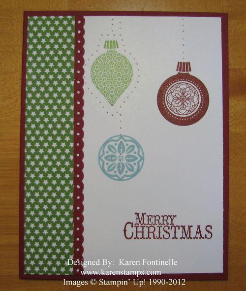 Ornament Keepsakes Paper Piercing Card