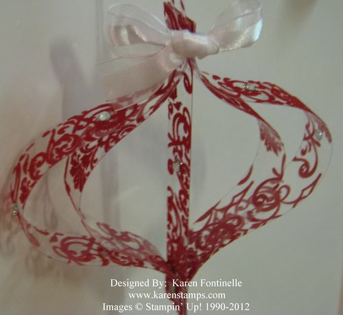 Candlelight Christmas Paper Strip Ornament