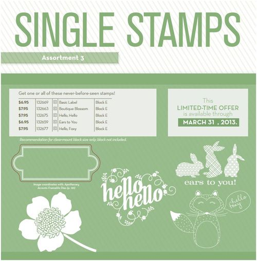 Single Stamps Assortment 3